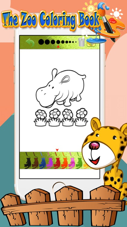 Zoo Animal Paint : coloring pages for girls & boys screenshot-3