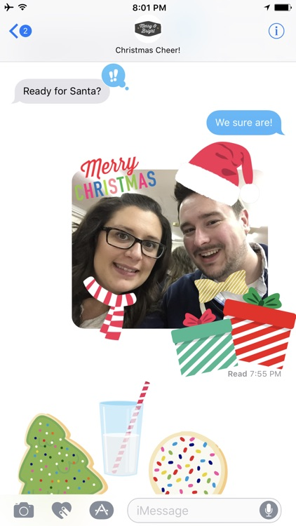 Christmas Stickers - Props and Selfie Accessories