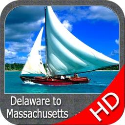 Delaware to Massachusetts HD - GPS chart Navigator