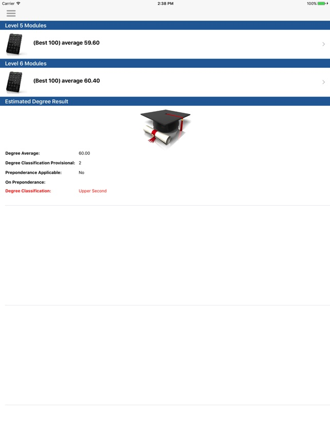 UWL Honours Calculator on the App Store