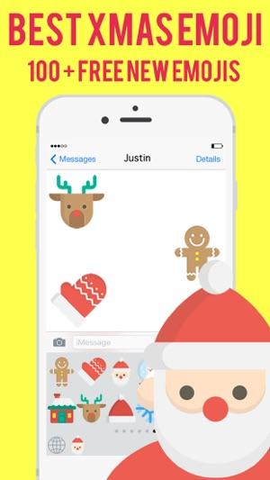 christmas xmas emoji messenger stickers keyboard on the app store