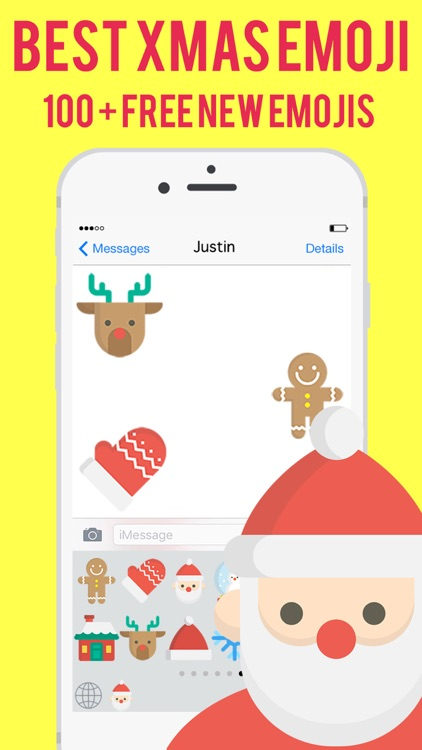 christmas xmas emoji messenger stickers keyboard