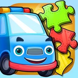 宝宝拼图游戏:认知交通工具大巴士