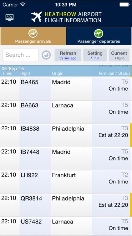 Heathrow Airport - Flight Info.