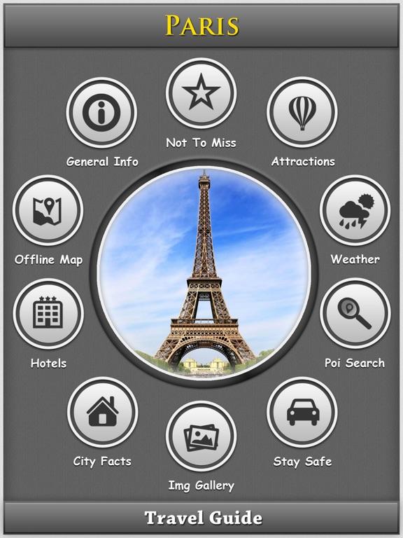 Paris Offline Map Travel Explorer Screenshot
