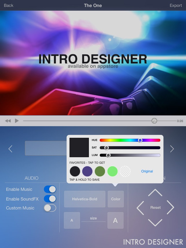 Intro Designer for iMovie and Youtube im App Store