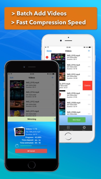 Video Slimmer: Shrink, trim, merge, rotate movies screenshot three