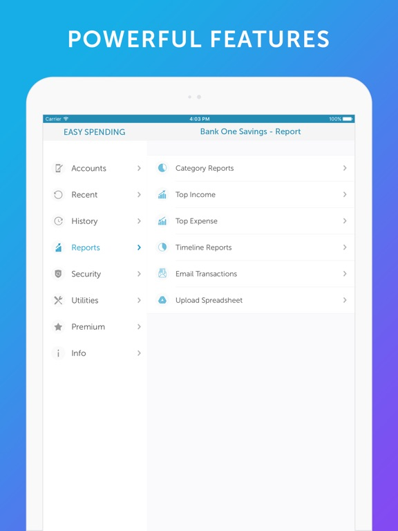 Easy Spending -Expense Tracker Screenshots
