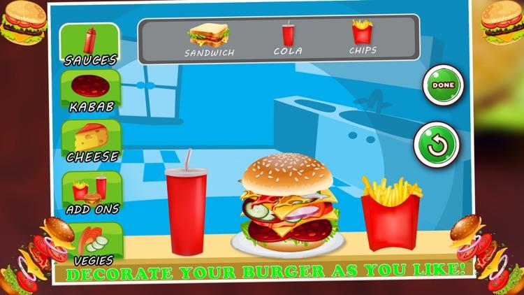 Burger Maker Cooking Game: Fast Food