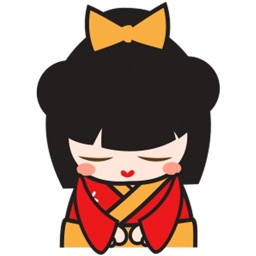 Kimi kawaii japanese doll for iMessage Sticker