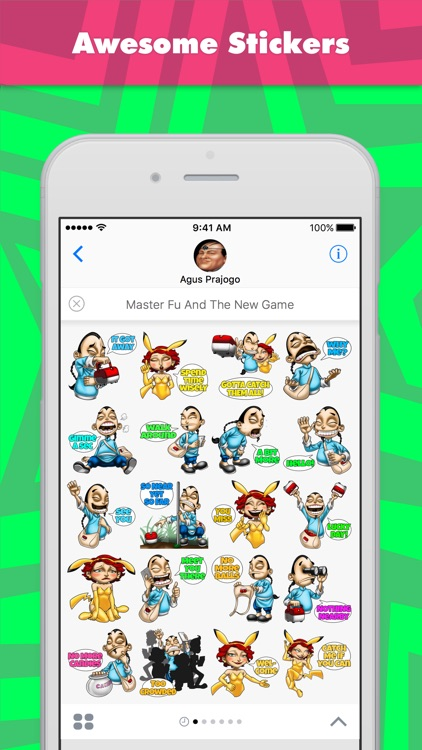 Master Fu And The New Game stickers by Choppic