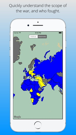 Great war map interactive wwi map of the world on the app store gumiabroncs Gallery