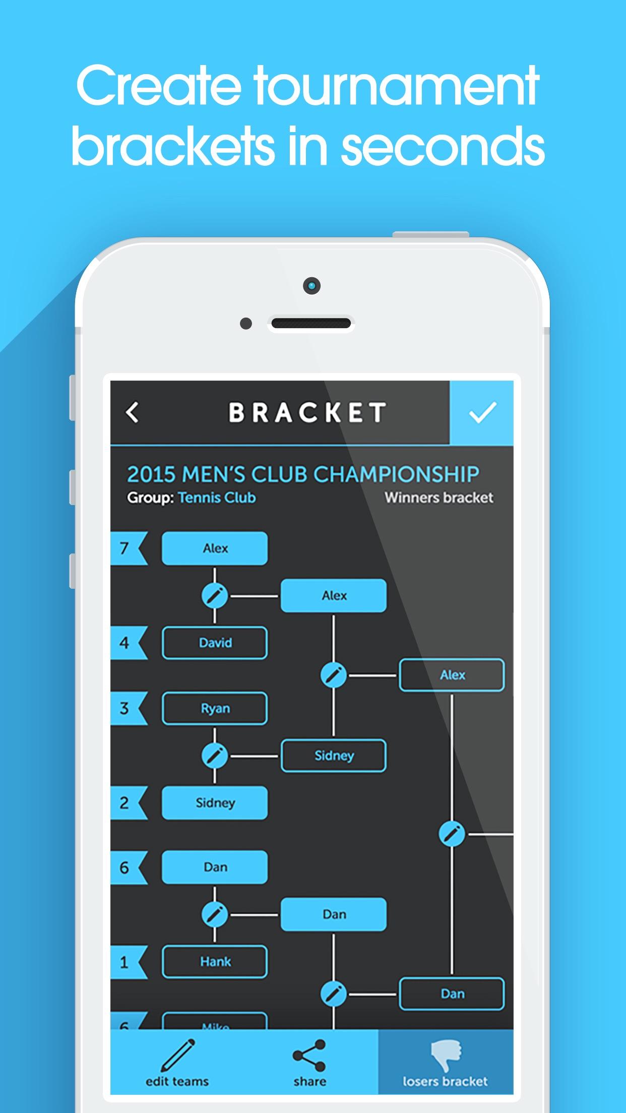 My Bracket - Tournament Manager for Amateur Sports Screenshot