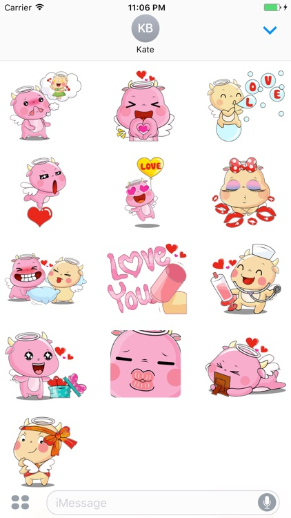 Lovely Couple of Pig Stickers