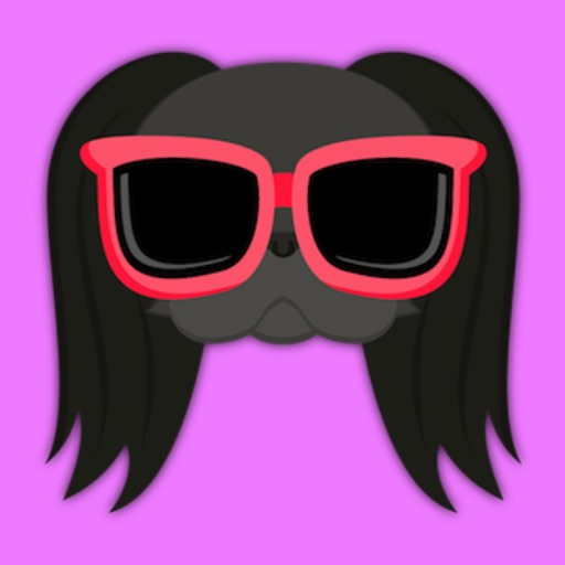 Black Japanese Chin Stickers for iMessage