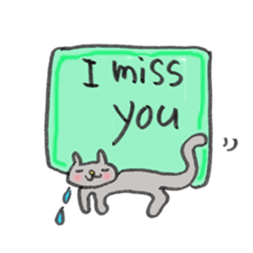 English Message With Cats Sticker
