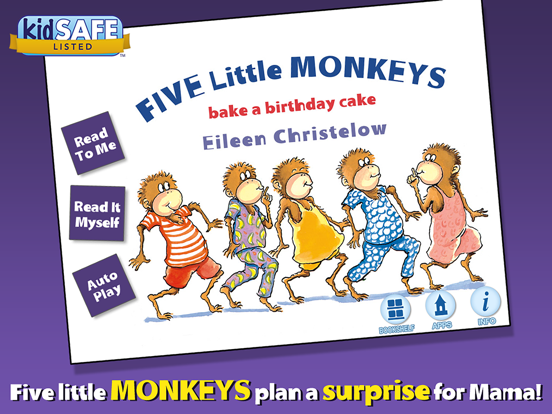 Peachy Five Little Monkeys Bake A Birthday Cake App Price Drops Funny Birthday Cards Online Inifofree Goldxyz