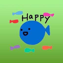 Alvin The Little Blue Fish Stickers