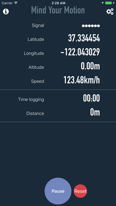 Mind Your Motion Tracker/Logger screenshot two