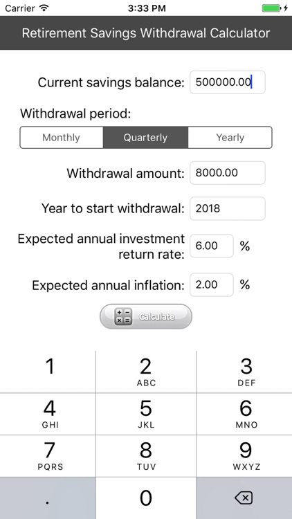 Retirement Savings Calculator screenshot-0