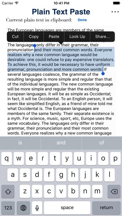 Plain Text Paste