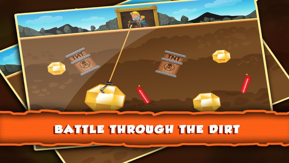 Gold Rush Miner Tricky Puzzle Digger Arcade Game hack tool