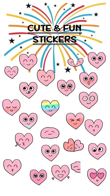 Lovely Heart Smiley ANIMATED Stickers For V Day