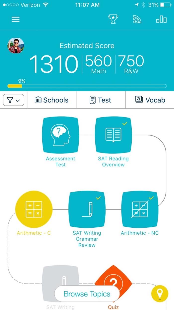 SAT Prep by Ready4 Screenshot