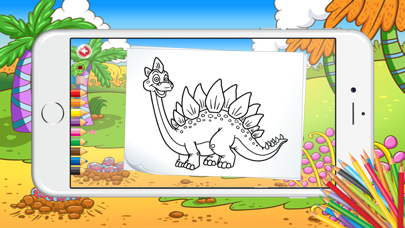 Educational Dinosaurs Activities Coloring Pages screenshot three