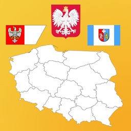 Poland State Flags and Maps