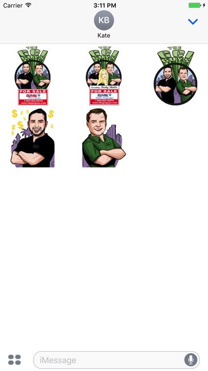 The GCI GUYS Messaging Sticker Pack