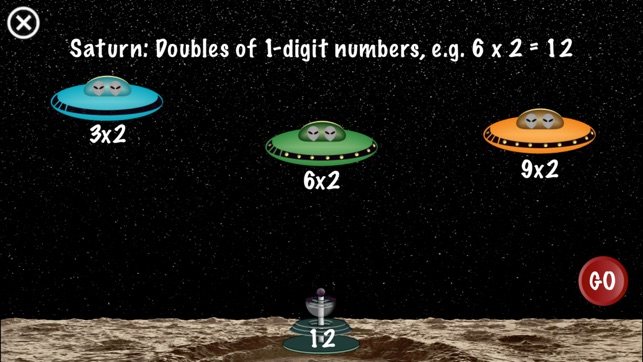 Arithmetic Invaders: Grade 2 Math Facts Screenshot