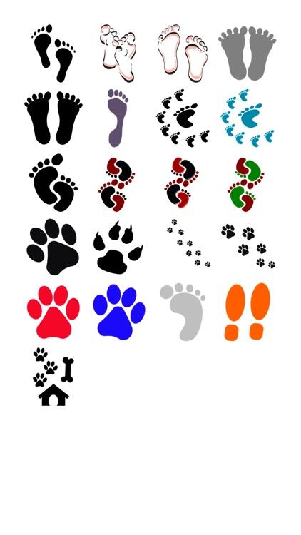 Footprint Sticker Pack!