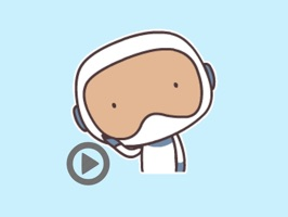 Mr Astronaut animated stickers pack
