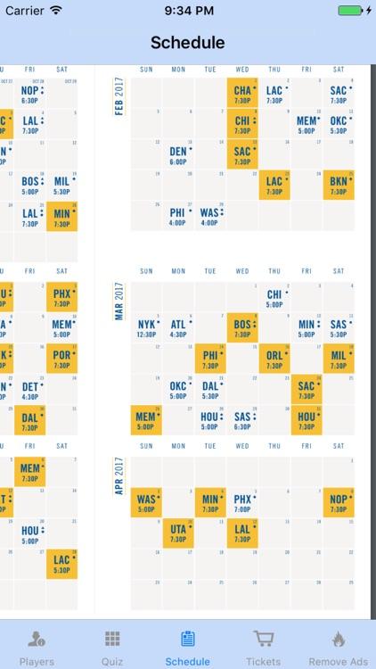 Golden State Basketball Team Information screenshot-3