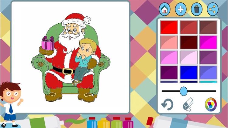 Paint Christmas - coloring book santa claus