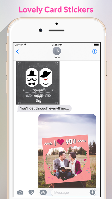 Love Card - Beautiful Lovely Card Stickers screenshot one