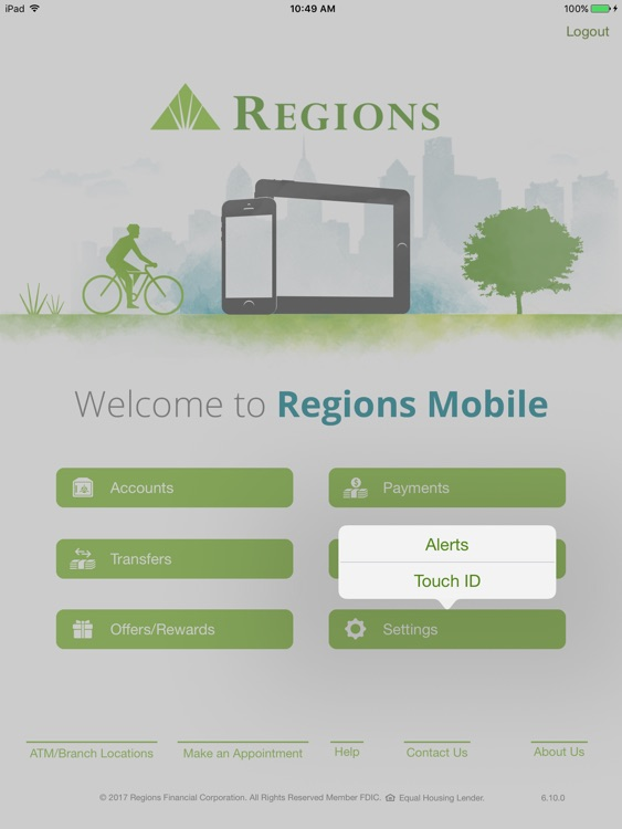 Regions Mobile for iPad