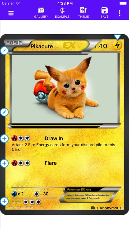 Card Maker Creator for Pokemon screenshot-1