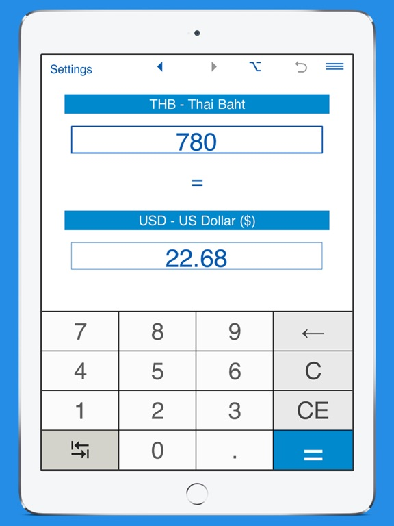 Screenshot 2 For Us Dollars Thai Baht Currency Converter