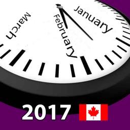 2017 Canada Holiday Calendar AdFree
