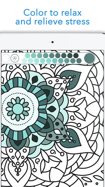 Mandala Coloring Book Anti Stress For Adult Easy Screenshot 1