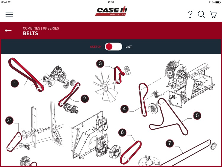 Case IH Harvesting parts screenshot-2