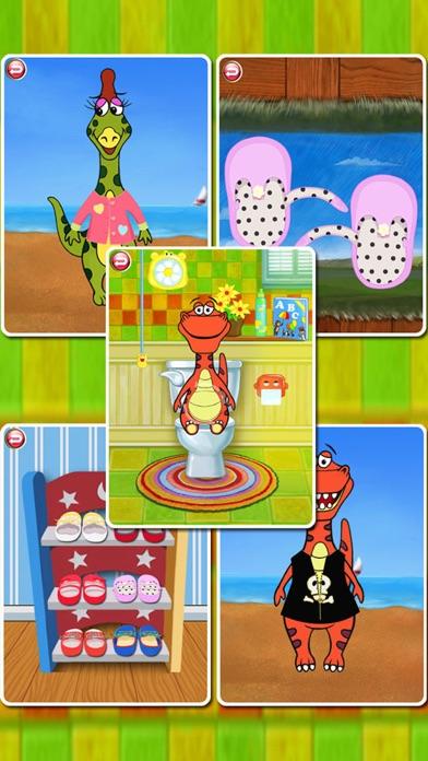Dino Bath & Dress Up- Potty training app for kids-0