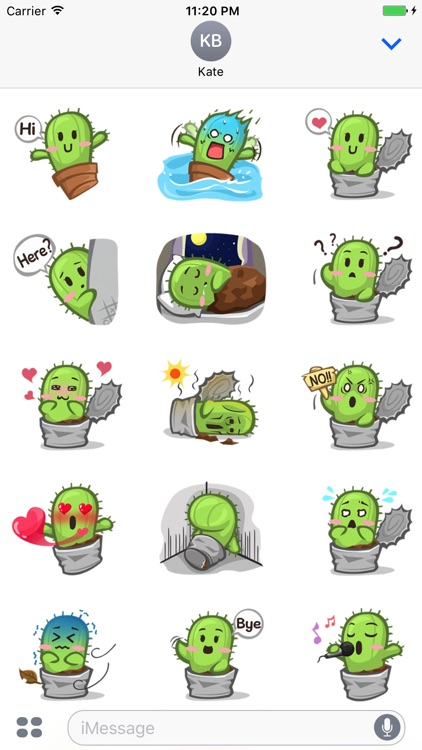 Tiny Cactus - Cute stickers for iMessage