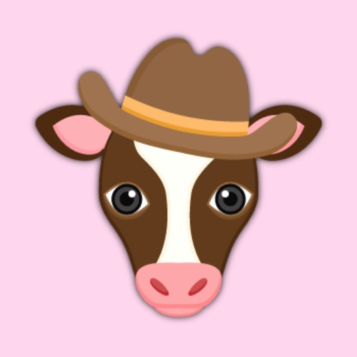 Brown White Cow Emoji Stickers