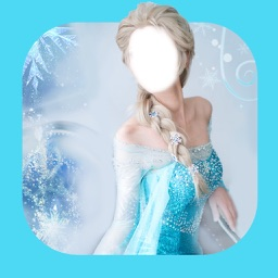 Face with famous princesses and ice princess