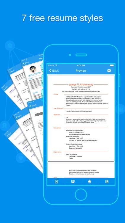 Quick Resume Pro - Resumes Builder and Designer screenshot-3