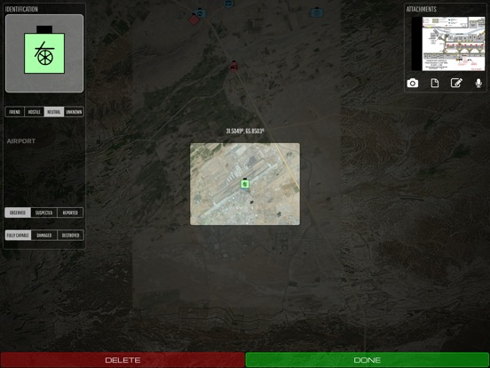 SITREP Tactical Mapping (iTAK) Screenshots