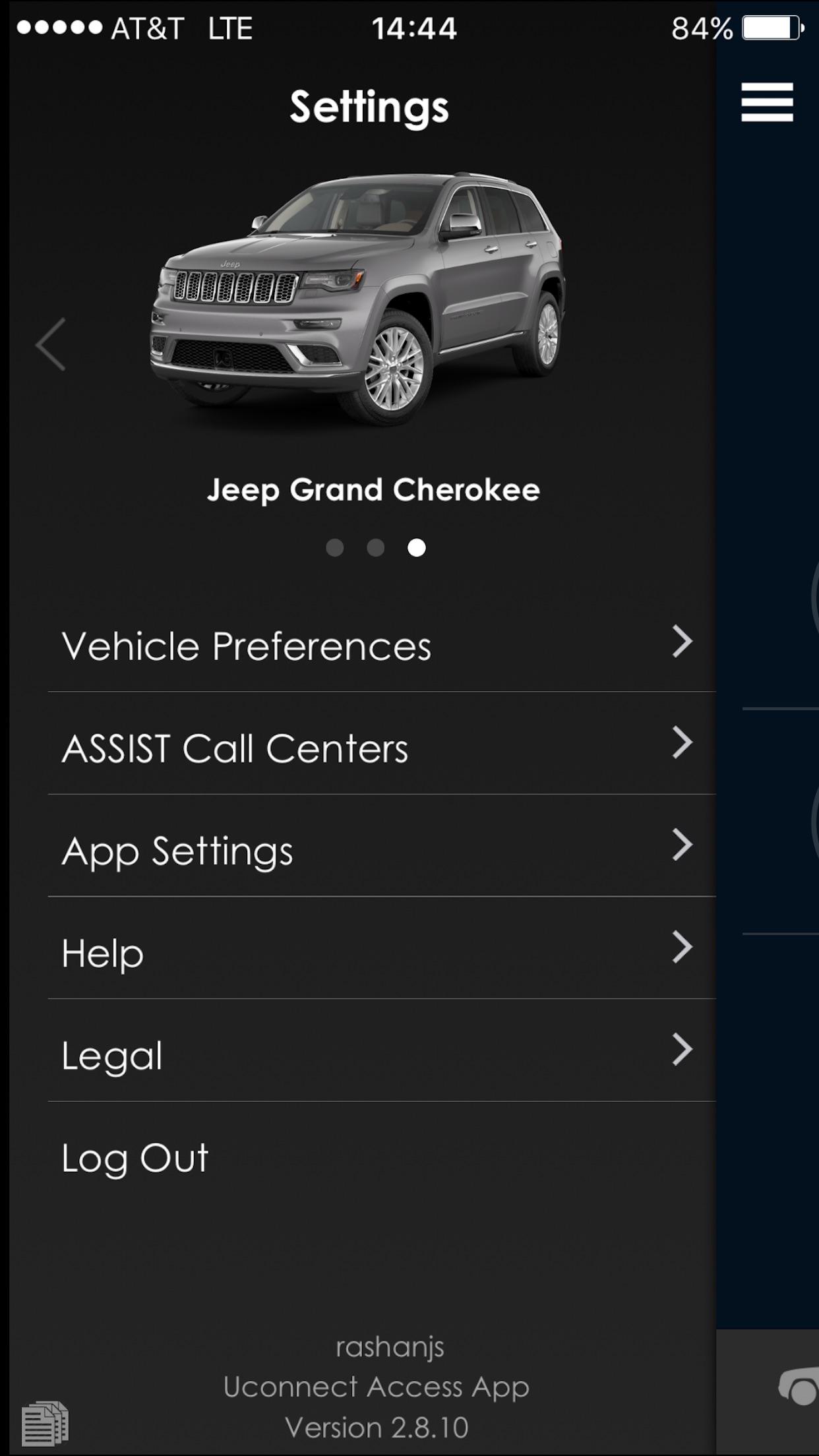 Uconnect Access Screenshot